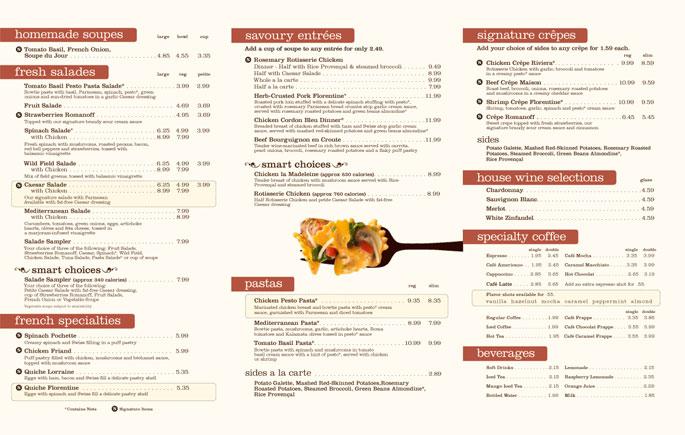 New Simple French Cafe Menu Homekeepxyz
