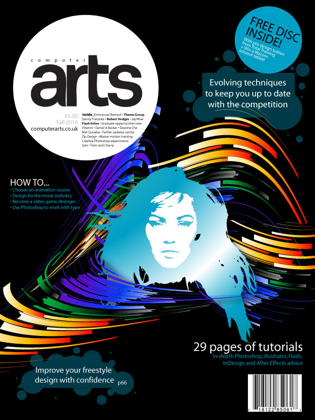 Computer arts cover by robert vargas at for Design art magazine