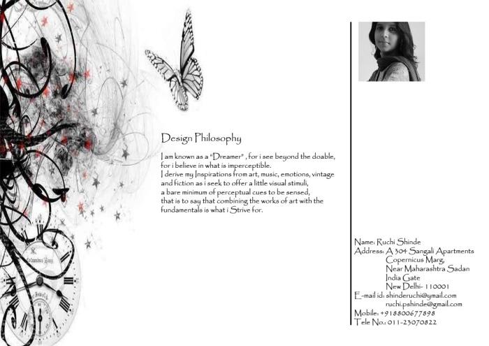 Fashion design portfolio by ruchi shinde at for Philosophy design