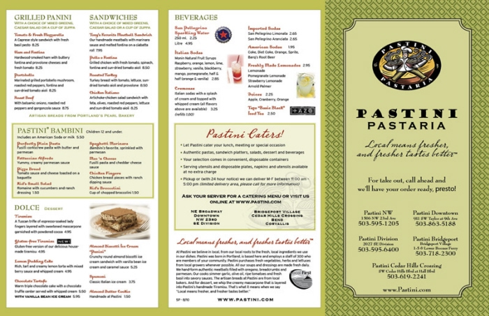 Menu design by dana keena at for Take out menu