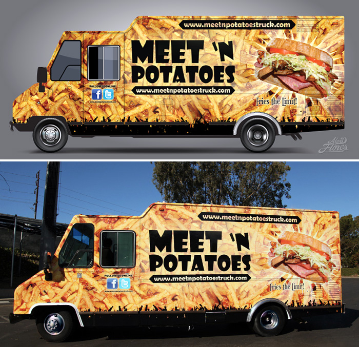 Food truck graphic the image kid has it for Food truck design software