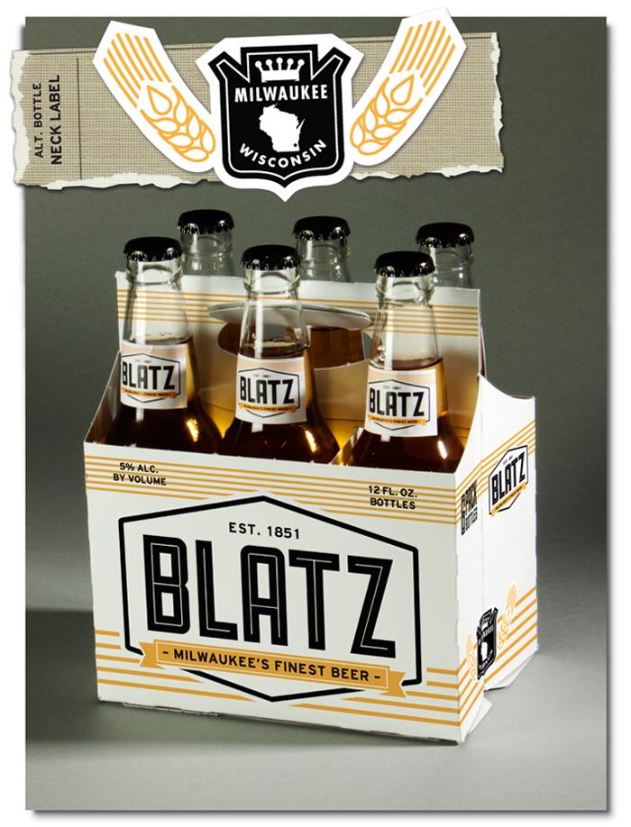 Blatz Beer Re-Branding by Derek Veigel at Coroflot.com | 700 x 918 jpeg 345kB