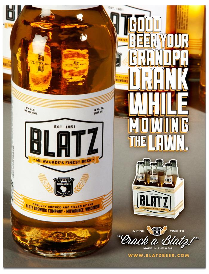 Blatz Beer Re-Branding by Derek Veigel at Coroflot.com | 700 x 918 jpeg 469kB