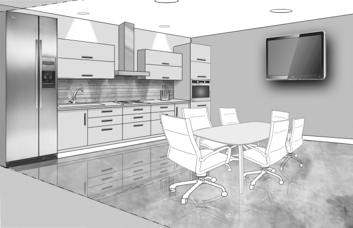 Bathroom kitchen design by andrew nelson at for Office kitchenette design