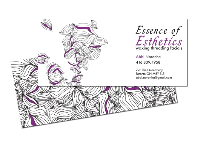 Essence of esthetics by valentina vogman at coroflot business card business card created for a local business in toronto i have developed the identity for essence of esthetics creating business cards colourmoves