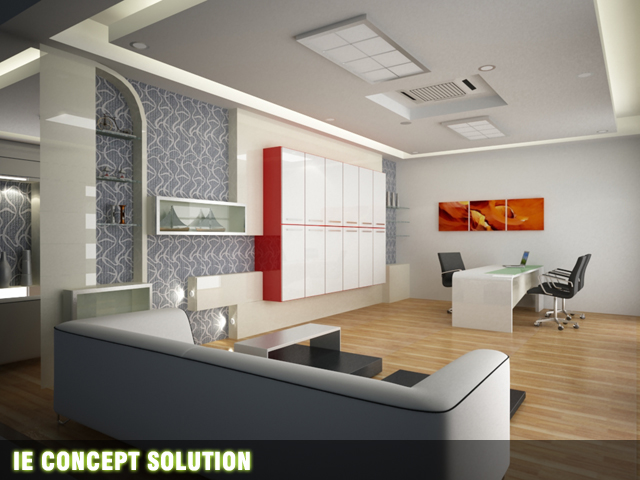 Office design by ie concept solution at for Director office room design