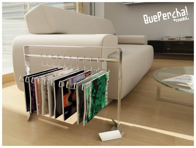 Few clothes? many hangers? many magazines? few magazine racks?