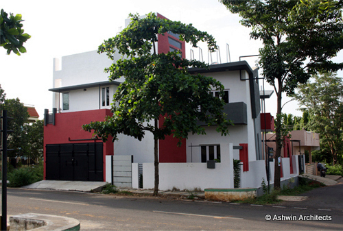 Front Elevation Duplex House Bangalore : Modern duplex house design in bangalore india by ashwin