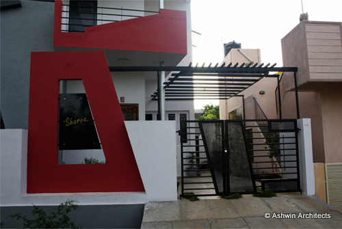 Modern duplex house design in bangalore india by ashwin for Independent house designs in india