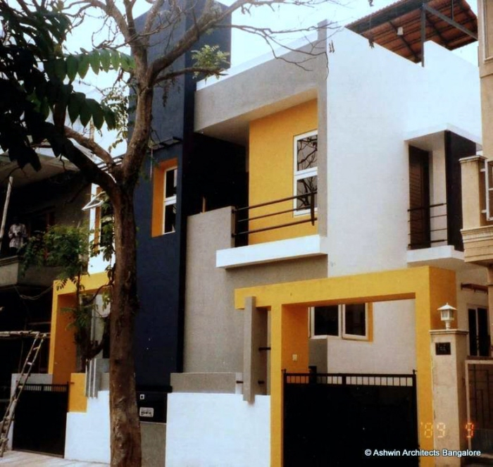 Front Elevation Of Villas In Bangalore : Luxury house plans villas in bangalore by ashwin