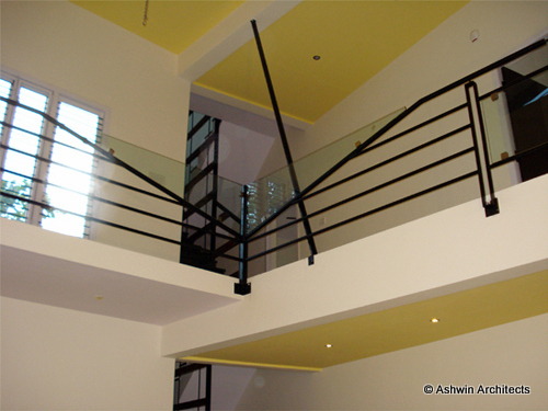 Modern duplex house design in bangalore india by ashwin for Duplex house interior designs in india