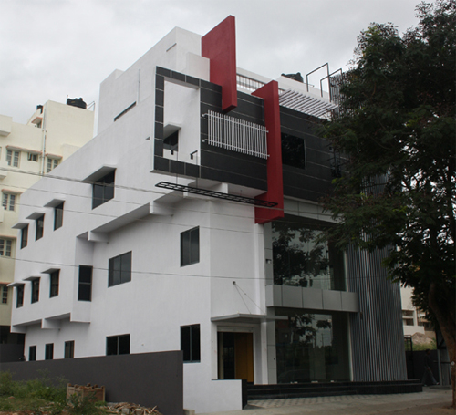 Front Elevation Bangalore : Contemporary architecture house designs commercial