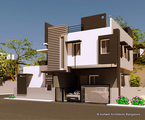 Front Elevation Pictures In Bangalore : Luxury house plans villas in bangalore by ashwin