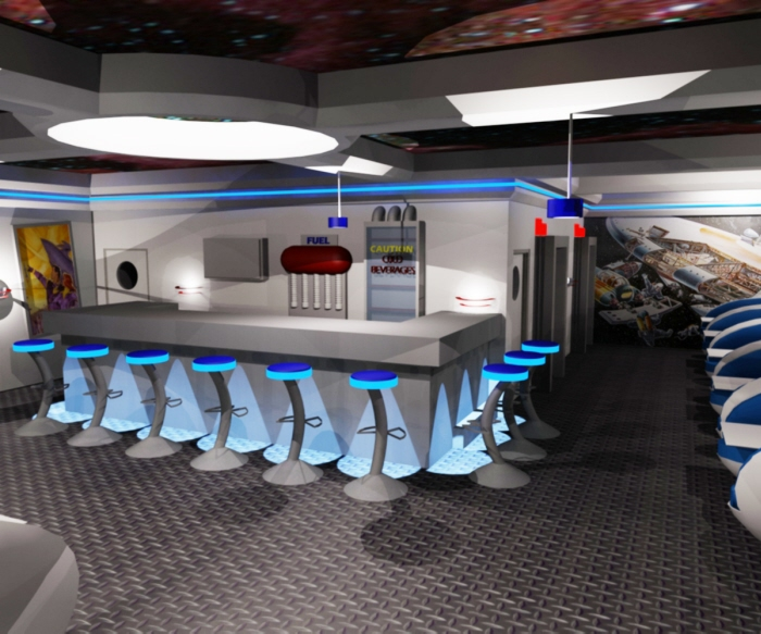 space themed restaurant