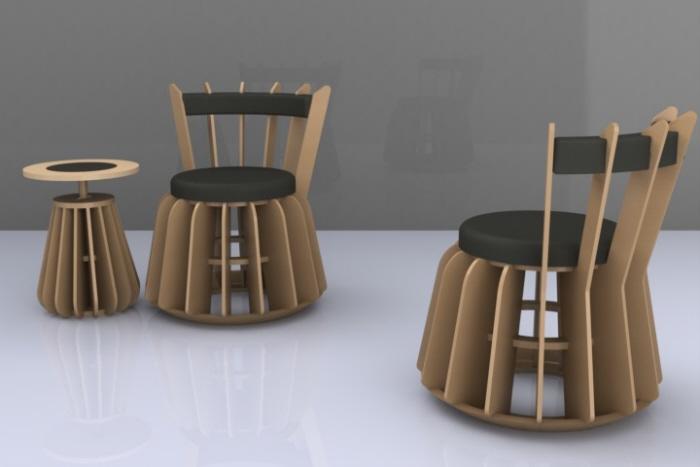 garis flat pack furniture by robertus roy perdana at. Black Bedroom Furniture Sets. Home Design Ideas