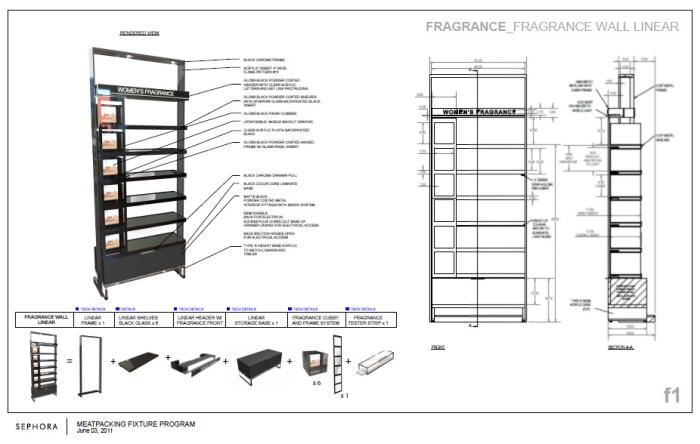 sephora retail fixtures      new design language by alexis