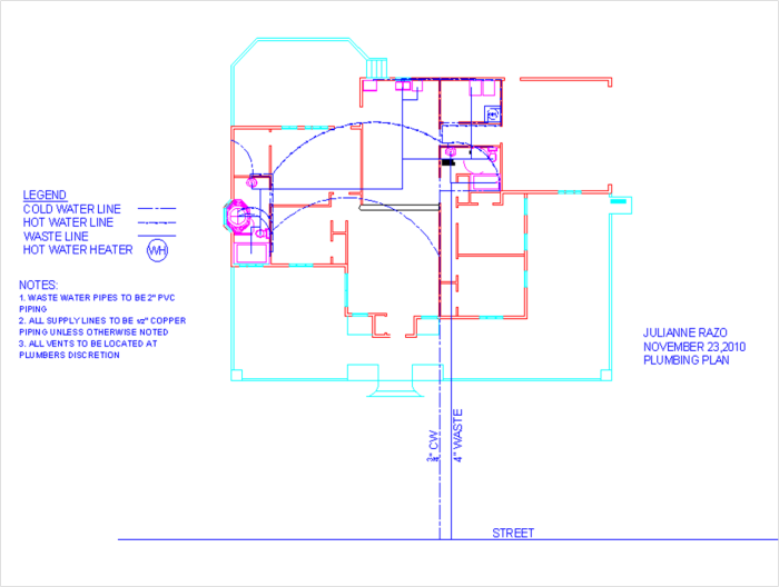 House design by julianne razo at for Plumbing blueprints for my house