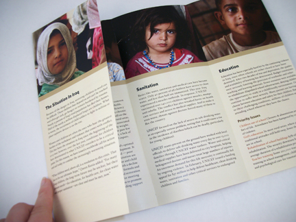 Unicef Brochures By Candace Gerard At Coroflot Com