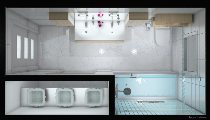 Interior bathroom design concept by leticia velasco at for Bathroom interior design concepts