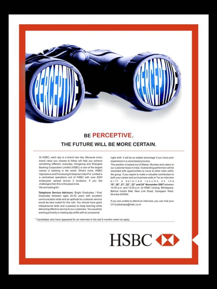 Hsbc s different values campaign | Term paper Example