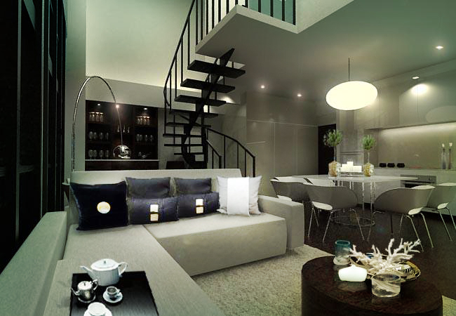 Joya condo unit by neil aldrin santander at for Interior designs for condo units