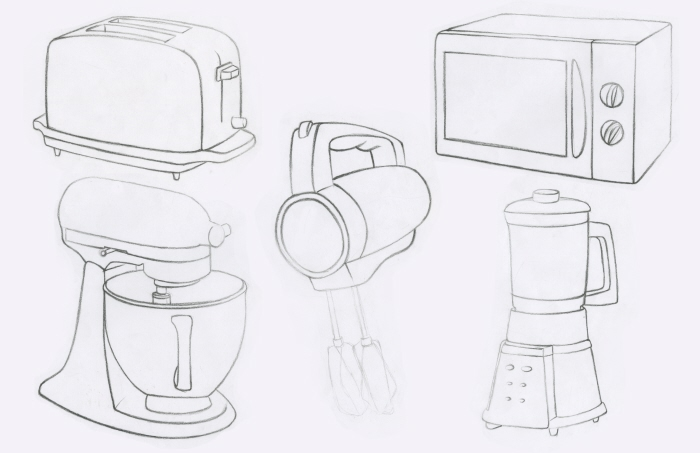 Kitchen Appliance Drawings ~ Sketches by amy vos at coroflot