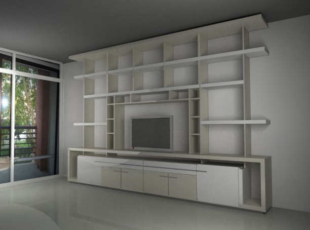 Muebles furniture by sergio alvarez magall n at for Muebles bibliotecas para living