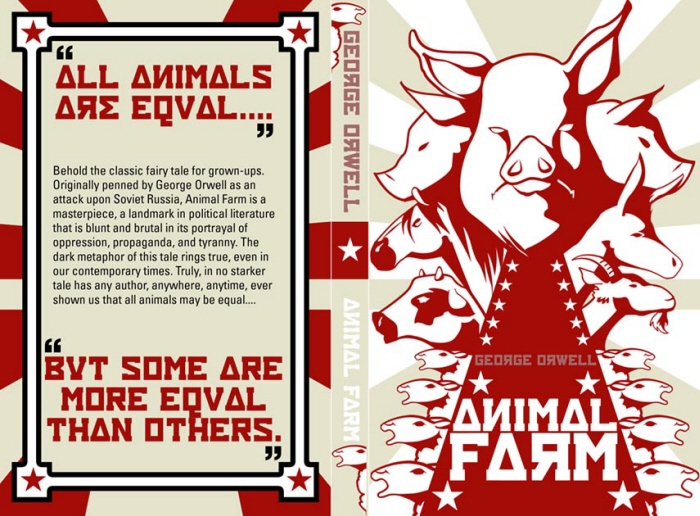 a comparison between the characters of george orwells novella animal farm and their real life counte