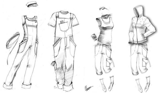 عکس نقاشی طراحی لباس
