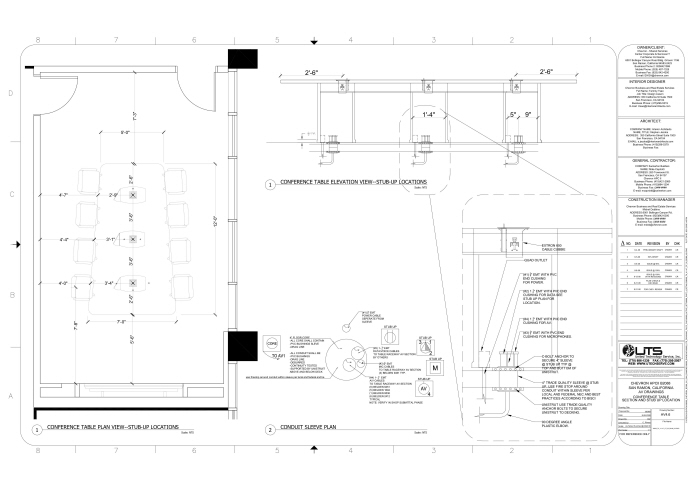 Av system design vtc executive boardroom by kelly wagnon for Electrical as built drawings sample