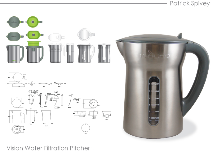 Vision Water Filtration Pitcher   These Projects Are A Sampling Of The Work  I Did At Base Brands To Develop Product And Manage It From Initial Concept  To ... Design