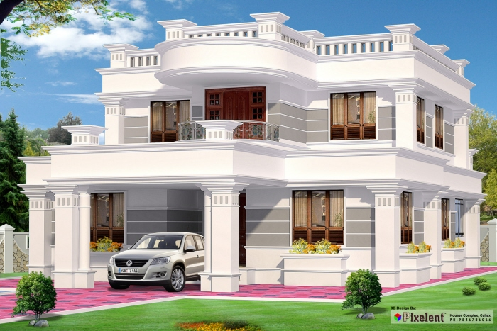 Residential Exterior Elevation Deisgns By Pixelent 3d