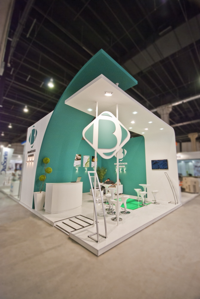 Modern Exhibition Booth : Fotos construidos ldesign by ceno thiago simas at