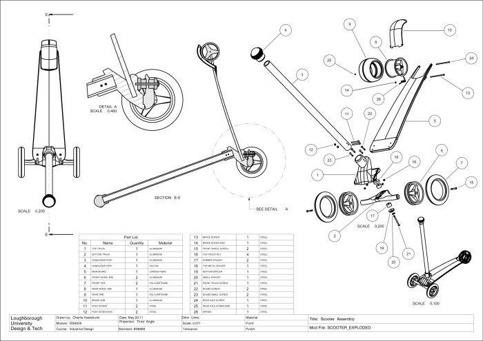 Design Schematics Of Razor Scooter