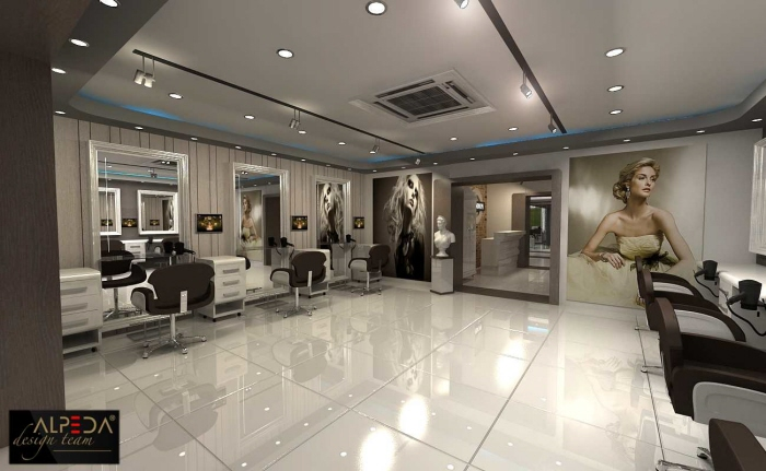 Coiffure salon design by onur yurttas at for Hair salon interiors photos