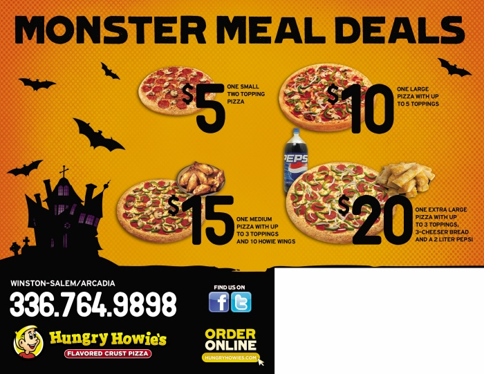 How to Use Hungry Howie's Coupons The best way to save at Hungry Howie's is to check out their deals section. This tab allows you to see all the online promo codes and offline coupons to help you get the best deal. In addition, they also offer online ordering to make getting your favorite pizza fast and easy%(62).