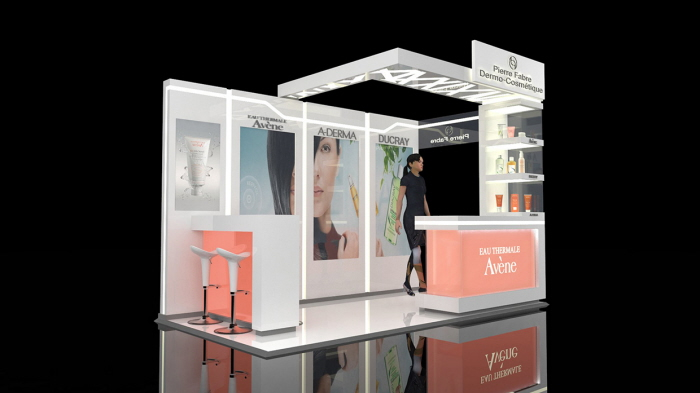 L Shaped Exhibition Stall : Pierre fabre exhibition stand by javier paz at coroflot