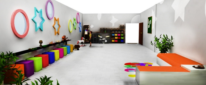 Space Design Club House For Differently Abled By