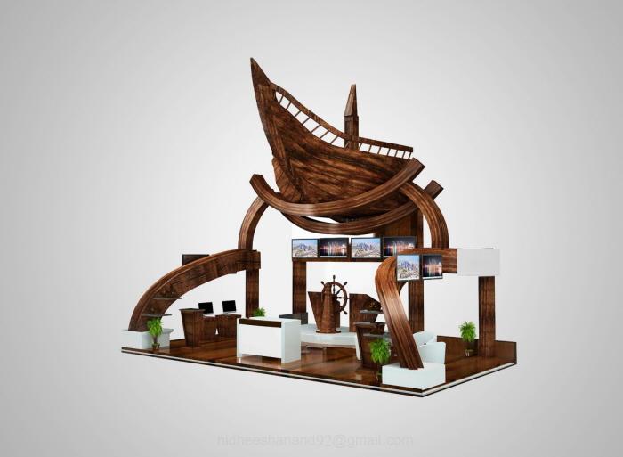 Exhibition Stand Designer Jobs In Qatar : Exhibition stand design civil aviation authority qatar by