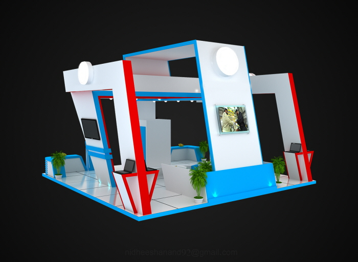 Exhibition Stand Qatar : Kahramaa stand design doha qatar by nidheesh anand at