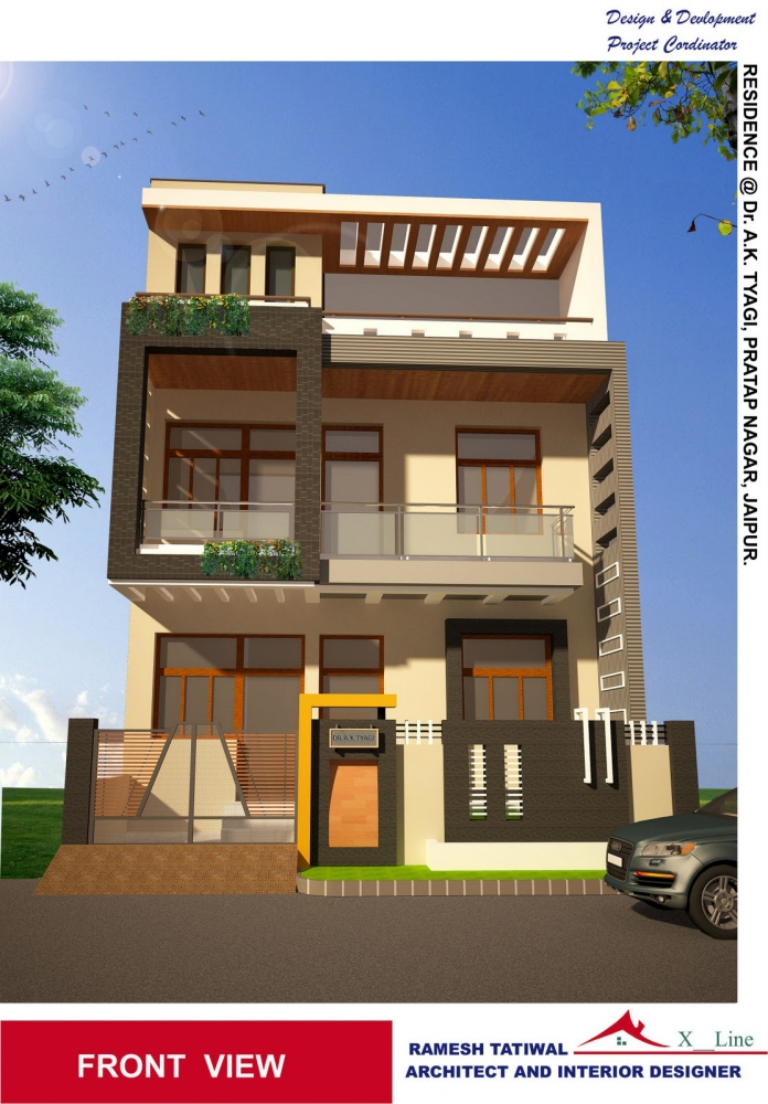 Modern Style Elevation by dheeraj mohan at Coroflot.com