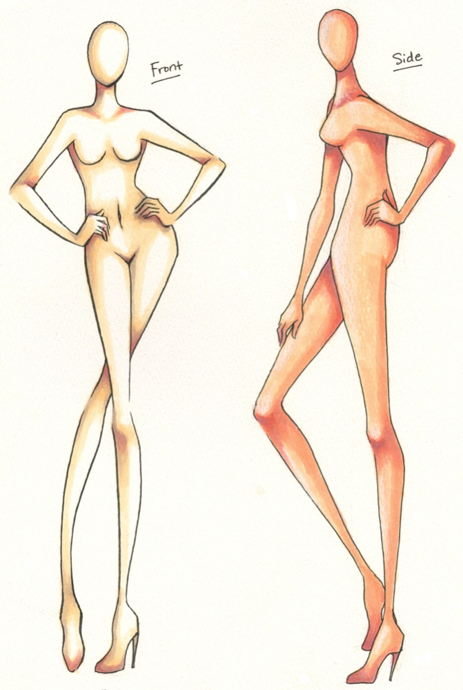 Fashion Figure Design Templates Ready for Download