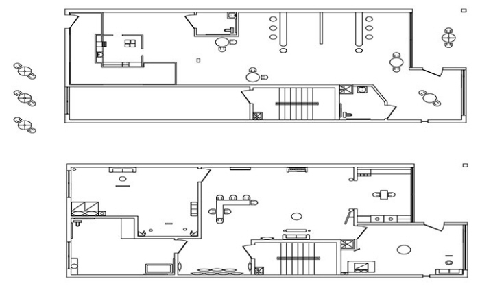 first floor of residential space rcp and electrical plan