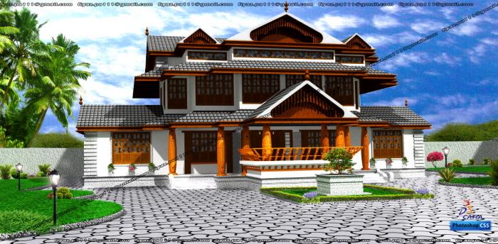 Traditional kerala home design by FIYAZ PA at Coroflotcom
