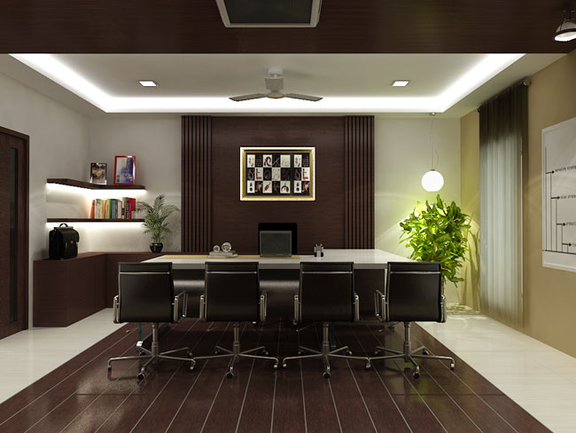 Office interior by soniya rawat at for Office cabin design