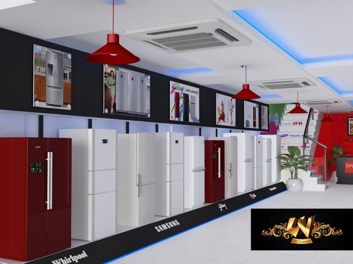 RPG Electronics Showroom Interior By Yogesh Tripathi At Coroflot