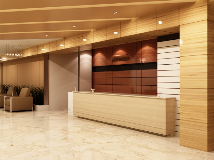 Hotel Lobby Interior Design By Mohammed Siyamand At