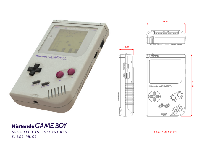 Game Boy Solidworks Model By S Lee Price At Coroflot Com
