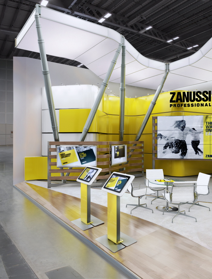Zanussi exhibition stand by igor iastrebov at for Office design exhibitions