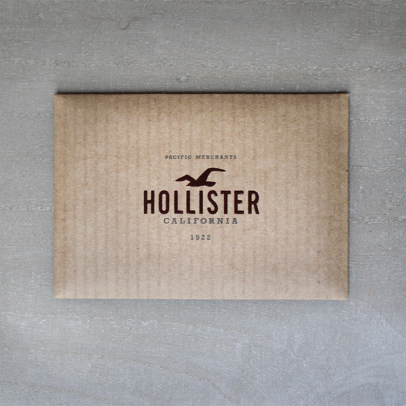 Hollister in-store gift card package by Dale Beato at Coroflot.com